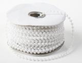 Perličky na niti bílá perleť 3 mm