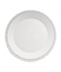 Podložka dortová bílá -plast 25 cm