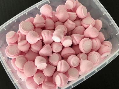 Sněhové pusinky meringhe  růžové  100 g