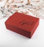 Krabička -  červená    motýl  10 ks