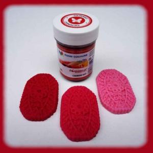 Gelová barva  carmine red - karmínově červená