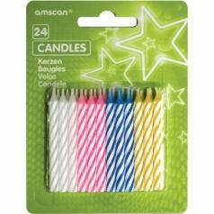 Svíčky narozeninové sada 24 ks mix barev