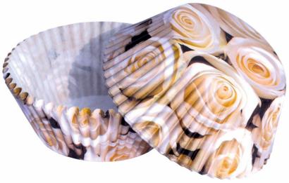 Košíčky na muffiny bílé růže 50 ks
