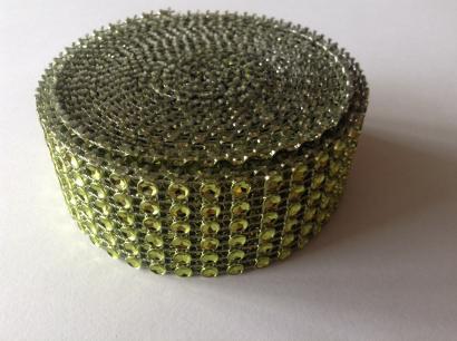 Diamantový pás  3 cm  zelený