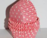 Papírové košíčky růžové puntík