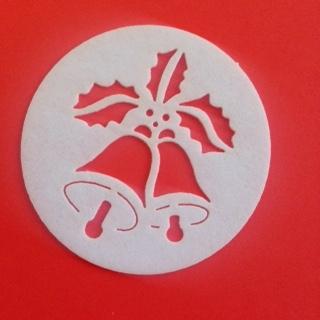 Jedlý papír vyřezávané  vánoční zvonky  30 ks