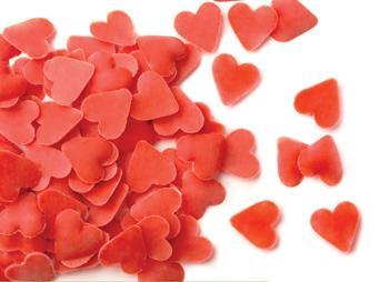 Červená srdíčka čokoládová  30 g