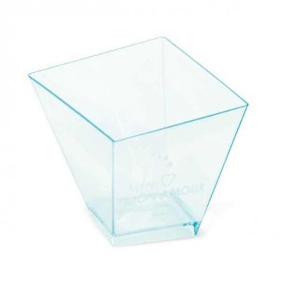 Plastový kelímek čtvercový asymetrický 70 ml