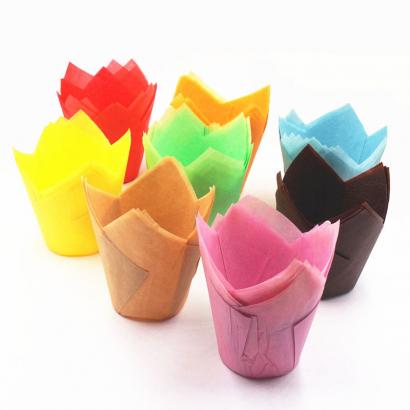 Mini tulipány na cupcakes sada  270 ks