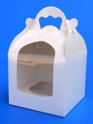 Krabička na cupcake bílá 1 ks