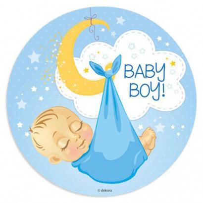 Jedlý papír k narození kluk