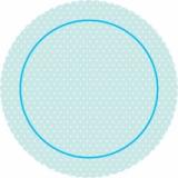Dortová podložka modrý puntík  31 cm