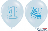 Balonek modrý botička 1 ks