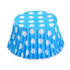 Cukrářské košíčky modré s puntíky  50 ks