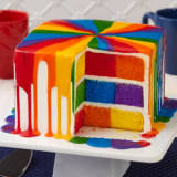 Šachovnicový dort čtverec forma