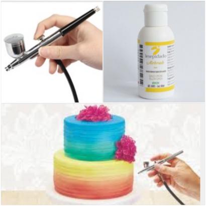 Barva do airbrush žlutá  100 g