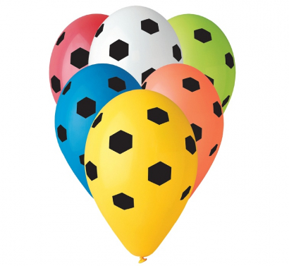 Balonky fotbal  5 ks