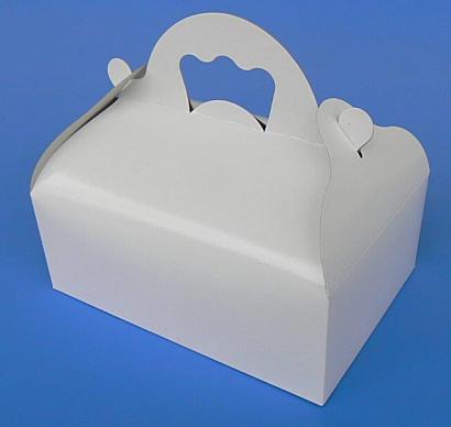 Krabička s ouškem bílá střední