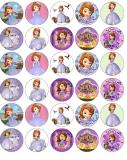 35 ks obrázků z jedlého papíru princezna soffie