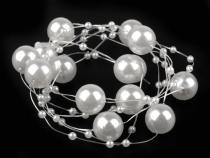 Perličky na silonu bílá perleť