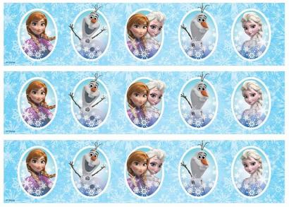 Jedlý papír frozen - ledové království 12