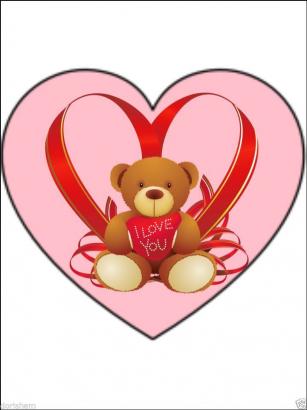 Jedlý papír medvídek srdce