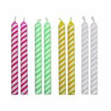 Svíčky dortové barevné 24 ks