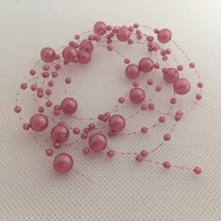 Perličky na silonu  růžové
