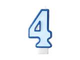 Svíčka modrá 4