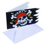 Piráti pozvánky na narozeniny  6 ks
