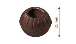 Čokoládové truffle  -  koule na pralinky hořké  8 ks