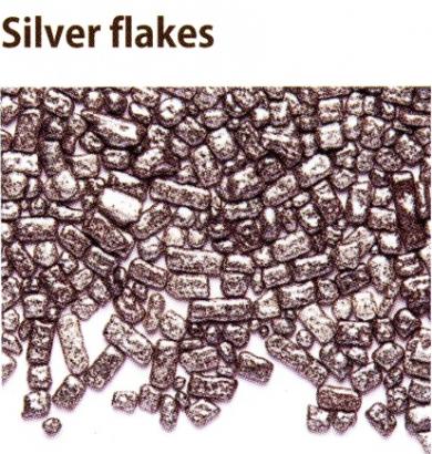 Cukrové plátky stříbro