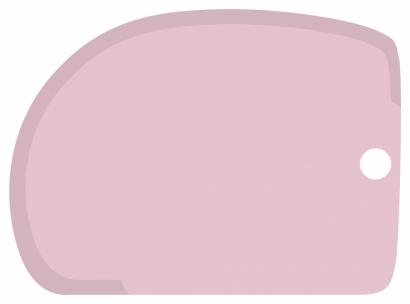 Cukrářská karta růžová