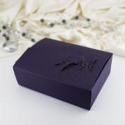 Krabička -  tmavě fialová     motýl  10 ks
