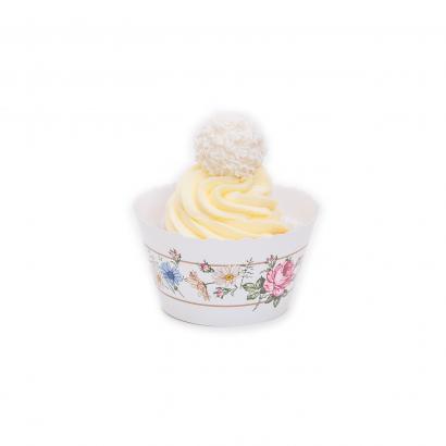 Košíčky na cupcakes 12 ks květiny