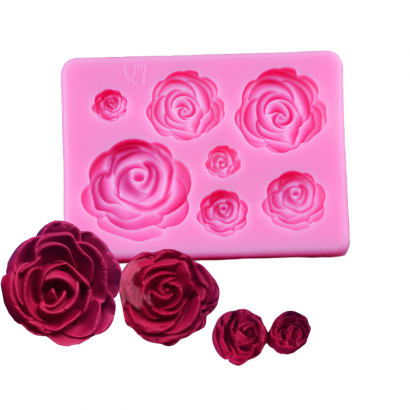 Silikonová forma růže