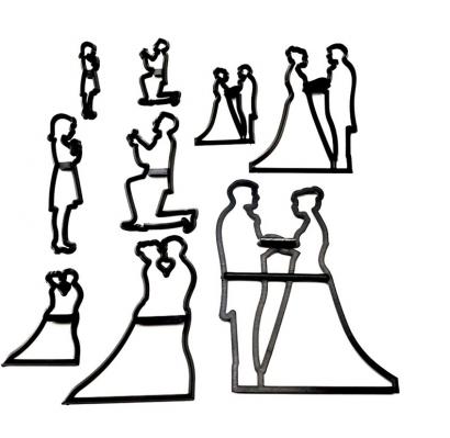 Patchwork vykrajovátka  svatební pár - svatba