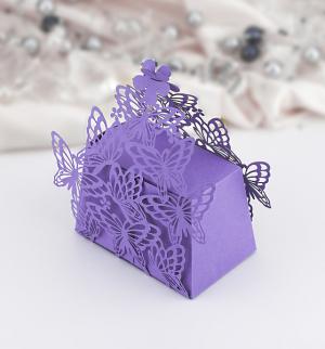 Krabička motýlková malá fialová 1 ks
