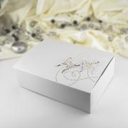 Krabička -  bílá perleť   motýl  10 ks