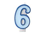 Svíčka modrá 6