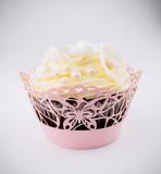 Košíčky na cupcakes  12 ks  růžové - motýl