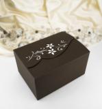 Krabička s květinami a kamínky hnědá 10 ks