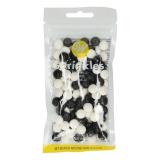 Cukrová dekorace černé a bílé míče