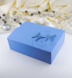 Krabička -  modrá    motýl  10 ks
