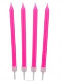 Dortové svíčky růžové  10 ks