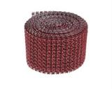Diamantový pás  5 cm  červený