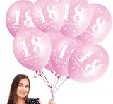 Balonek  30 cm číslo  18 růžový
