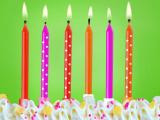 Svíčky dortové  6 ks  barevné