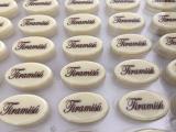 Čokoládový nápis tiramisu - bílé  12 ks