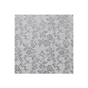 Podložka pod dort stříbrná čtverec extra 35 x 35 cm